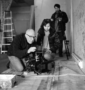 Director Julia Kwan on set
