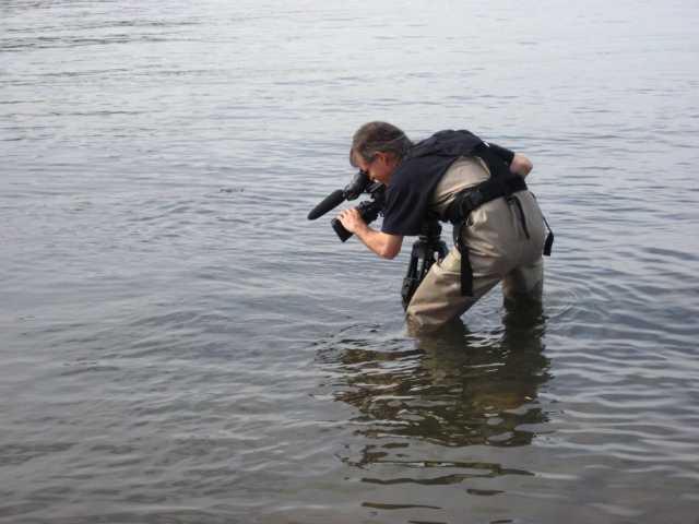Director Scott Renyard behind the scenes at the Burrard Inlet
